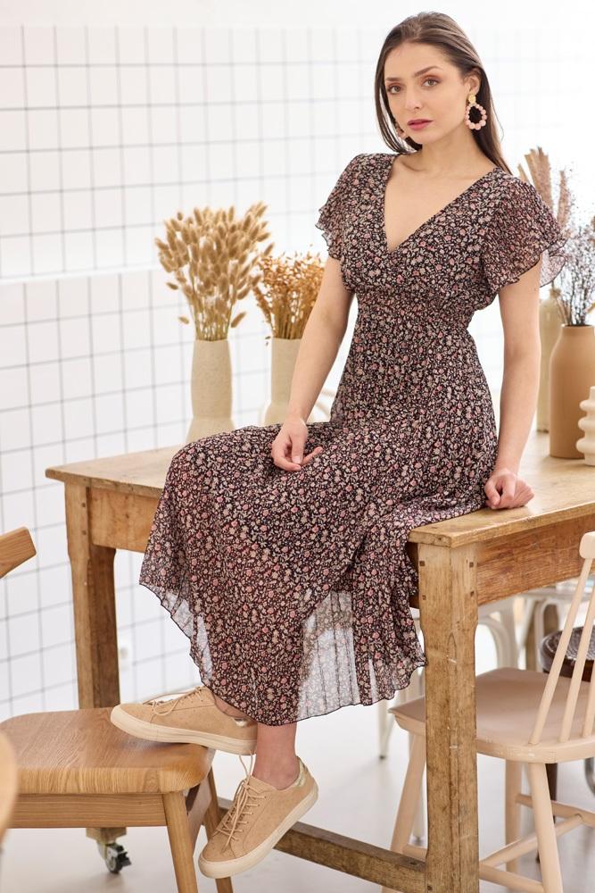 SEN/5047 (robe) MIL/M21EE040BL (boucle d'oreille)
